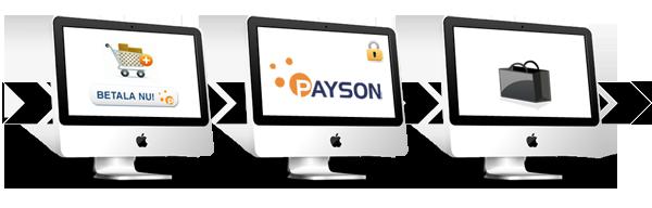Steg för steg hur en Paysonbetalning går till.