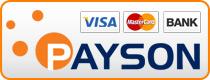Visa eller Mastercard genom Payson