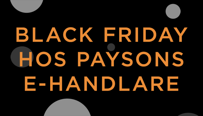 Black Friday med Payson!